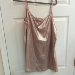 NWOT TORRID Blush Pink Sparkly Adjustable Cami 4